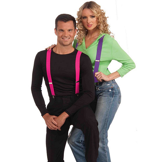 Orange Suspenders Dress Up Accessory
