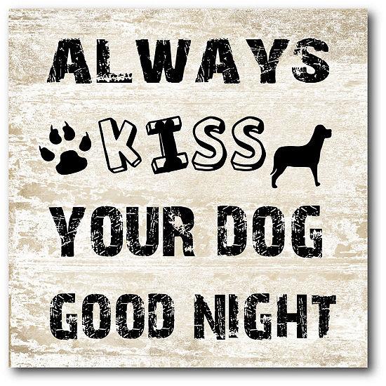 Courtside Market Good Night Doggy Canvas Art