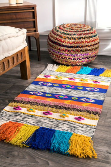 nuLoom Willene Tribal Jute Hand Woven Rug