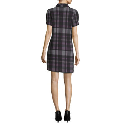 Jessica Howard Short Sleeve Fit & Flare Dress-Petite