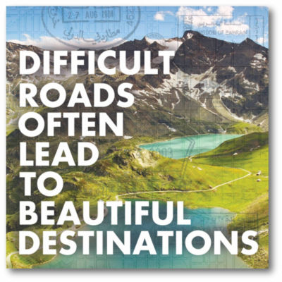 Difficult Roads Often Lead To Beautiful Destinations Canvas Art