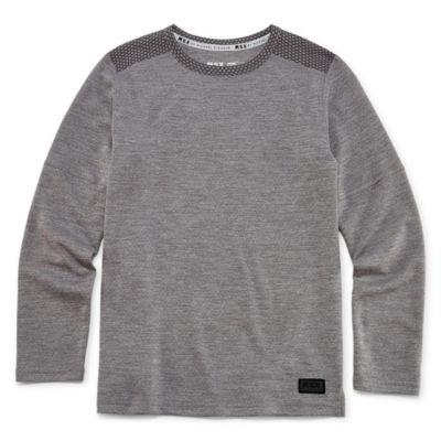 Msx By Michael Strahan Boys Crew Neck Long Sleeve T-Shirt-Big Kid