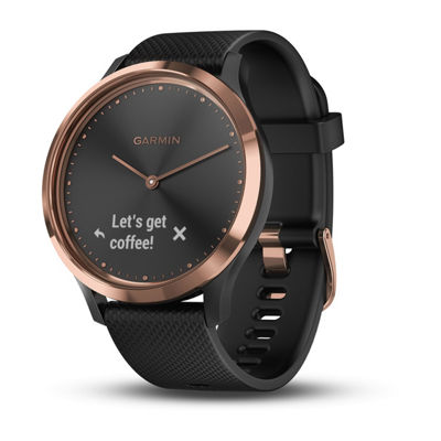 Garmin Vivomove Hr Unisex Black Smart Watch-0100185016jcp
