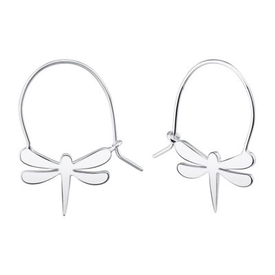 Footnotes Into The Wild Sterling Silver 22.2mm Hoop Earrings