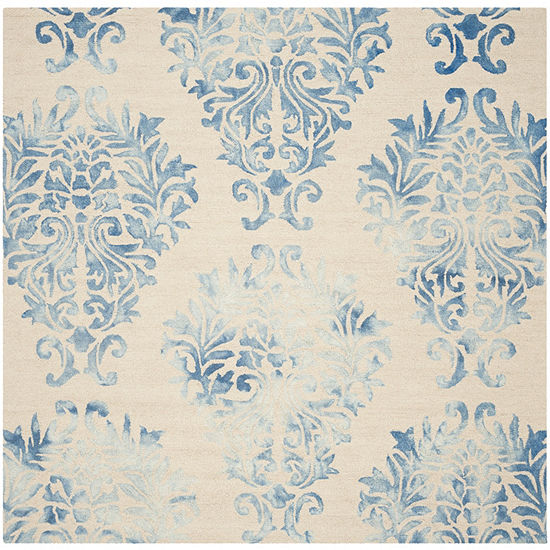 Safavieh Dip Dye Collection Collin Floral Square Area Rug