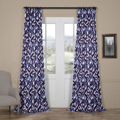 Exclusive Fabrics & Furnishing Bukhara Blackout Rod-Pocket/Back-Tab Curtain Panel