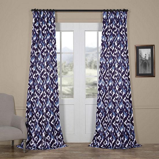 Exclusive Fabrics & Furnishing Bukhara Blackout Rod-Pocket/Back-Tab Curtain Panel