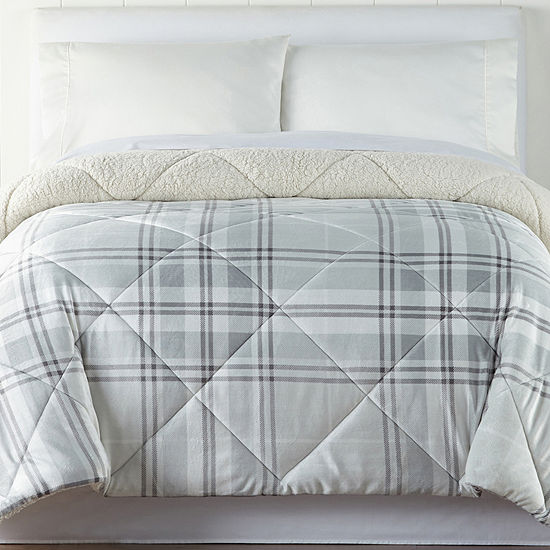 JCPenney Home Faux Mink to Faux Sherpa Comforter