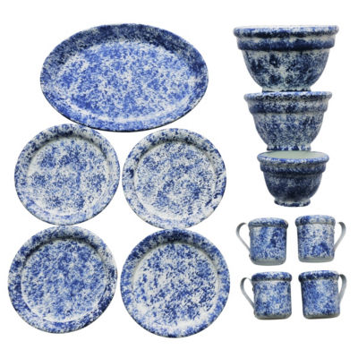 The Queen's Treasures 12-pc. Spatter Ware Dish Set For 18 Inch Dolls