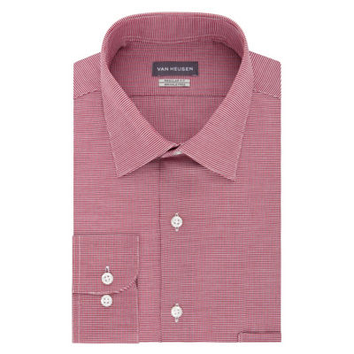 Van Heusen Lux Regular Stretch Long Sleeve Sateen Dress Shirt