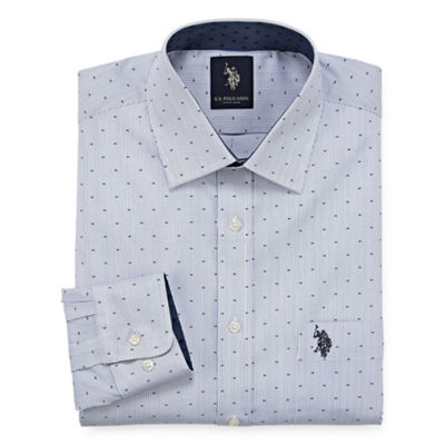 U.S. Polo Assn. Dress Shirt Long Sleeve Geo Linear Dress Shirt - Slim