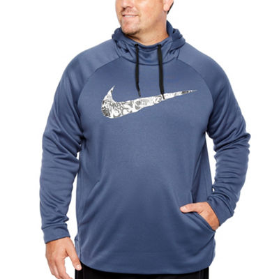 Nike Mens Long Sleeve Moisture Wicking Hoodie-Big and Tall