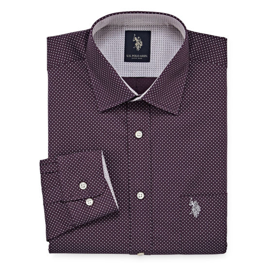 U.S. Polo Assn. Long Sleeve Dots Dress Shirt - Slim