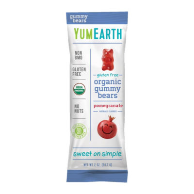 YumEarth Pomegranate Pucker Gummy Bears - 2 oz - 12 Count