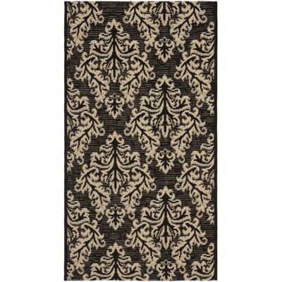Safavieh Courtyard Collection Domhnall Floral Indoor/Outdoor Area Rug