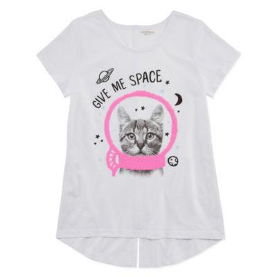 Arizona Short Sleeve Graphic Tunic Top - Girls' 4-16 & Plus
