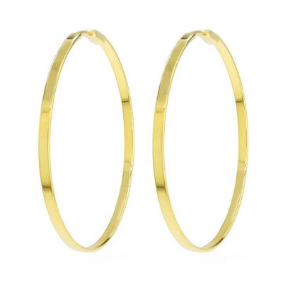 Sechic 14K Gold 40mm Hoop Earrings