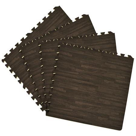 Interlocking Foam Anti Fatigue Floor Tiles 4 tiles/16 Sq. Ft., One Size , Black