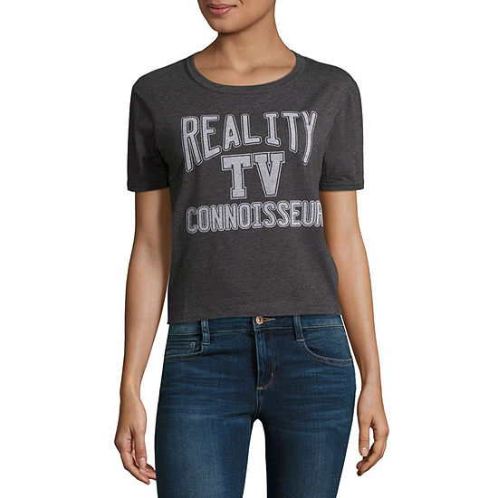 """Reality TV"" Cropped Tee - Juniors"