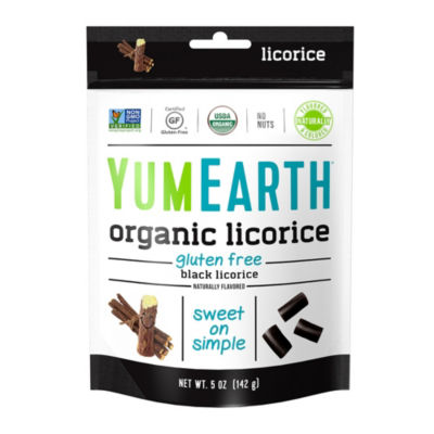 YumEarth Organic Gluten Free Black Licorice - 5 oz- 4 Pack