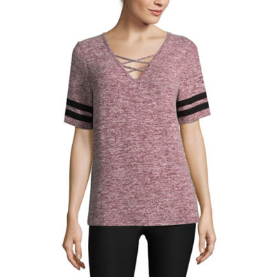Flirtitude Criss Cross Tee - Juniors