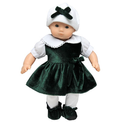 The Queen's Treasures 15 Inch Baby Doll Bitty Green Dress Outfit
