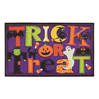 JCPenney Home Halloween Trick or Treat Rectangular Doormat Deals