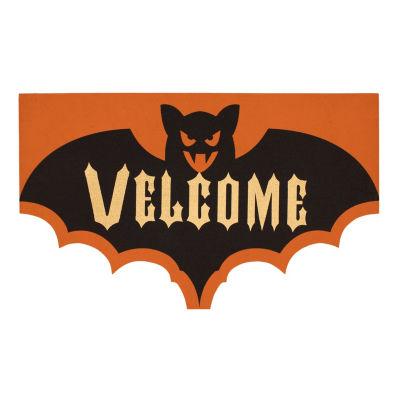 JCPenney Home Halloween Elegant Entry Rectangular Doormat
