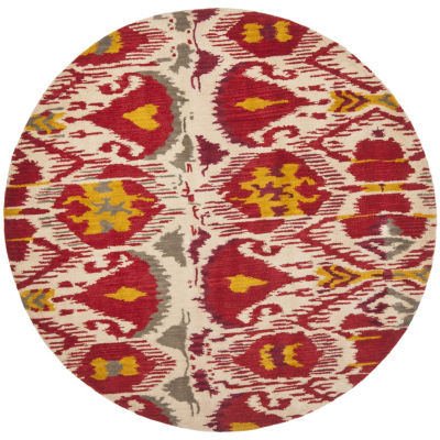 Safavieh Ikat Collection Jayme Abstract Round Area Rug