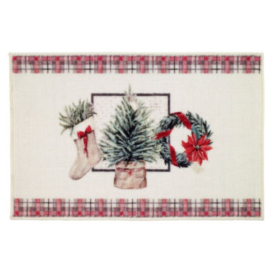 Avanti Farmhouse Holiday Bath Rug