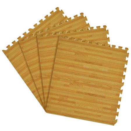 Interlocking Foam Anti Fatigue Floor Tiles 4 tiles/16 Sq. Ft., One Size , Brown - 93162780026