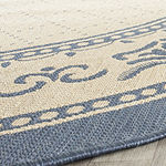 Safavieh Courtyard Collection Alden Oriental Indoor/Outdoor Square Area Rug