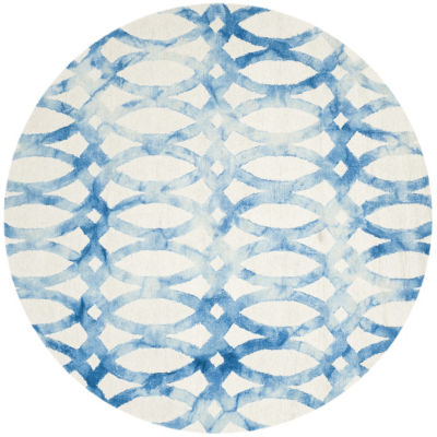 Safavieh Dip Dye Collection Maralyn Geometric Round Area Rug