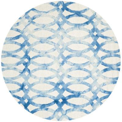 Safavieh Dip Dye Collection Maralyn Geometric Round Area Rug