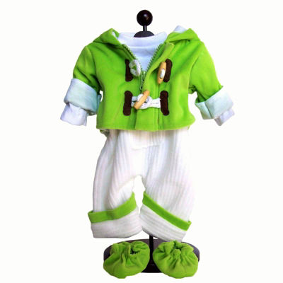 The Queen's Treasures 15 Inch Baby Doll Green 5-pc. Overall Clothes