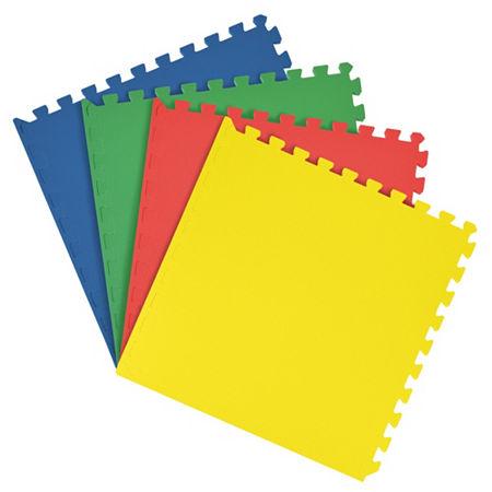 Interlocking Foam Anti Fatigue Floor Tiles 4 tiles/16 Sq. Ft., One Size , Multiple Colors