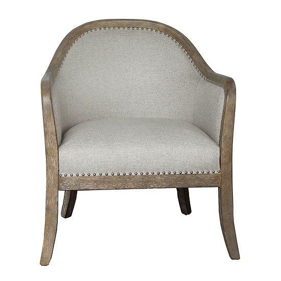 Two-Tone Wood Frame Accent Chair