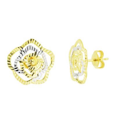 Sechic 14K Gold 13mm Stud Earrings