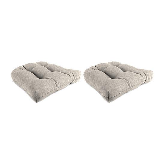 Jordan Manufacturing Set of 2 Wicker Patio Seat Cushions