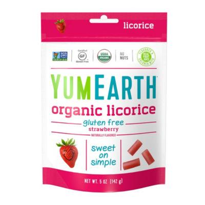 YumEarth Organic Gluten Free Strawberry Licorice -5 oz - 4 Pack