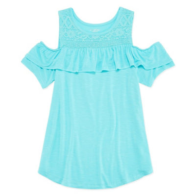 Arizona Crochet Cold Shoulder Top - Girls' 4-16 & Plus