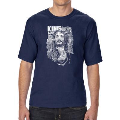 Los Angeles Pop Art Boy's Raglan Baseball Word Art T-shirt - One Love Heart