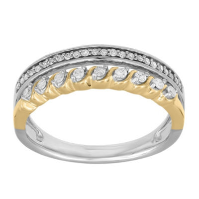 Womens 1/5 CT. T.W. Genuine White Diamond 10K Gold Band