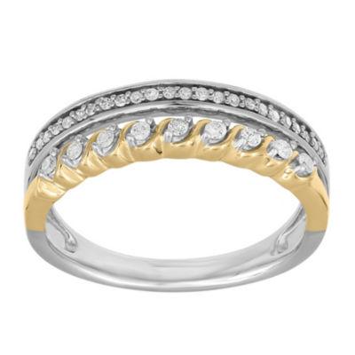 Womens 1/5 CT. T.W. White Diamond 10K Gold Band