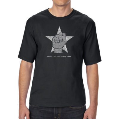Los Angeles Pop Art Boy's Raglan Baseball Word Art T-shirt - Names of Legendary Outlaws