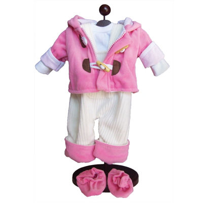 The Queen's Treasures 15 Inch Baby Doll Pink 5-pc.Overall Clothes