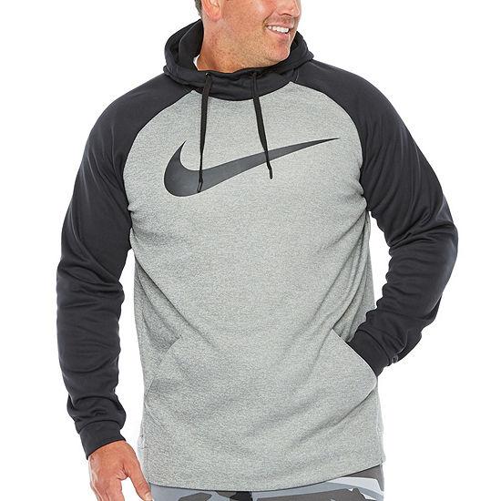Nike-Big and Tall Mens Long Sleeve Moisture Wicking Hoodie