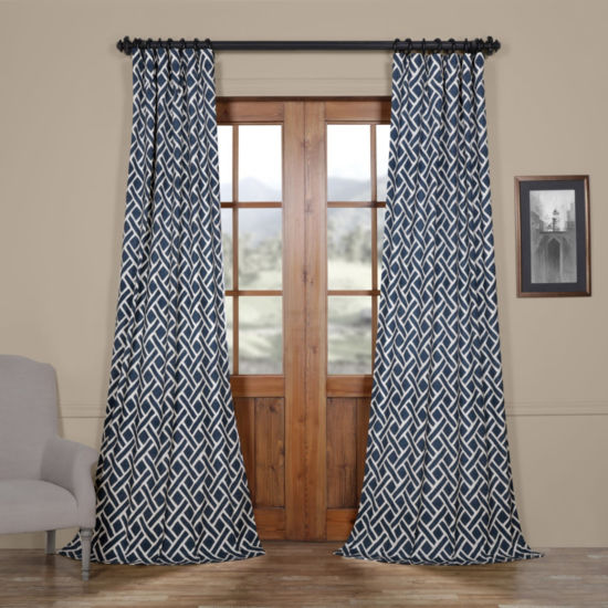 Exclusive Fabrics & Furnishing Martinique Cotton Rod-Pocket/Back-Tab Curtain Panel