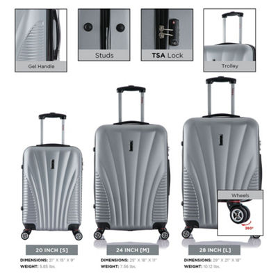 InUSA Chicago Lightweight Hardside Spinner 3-pc. Luggage Set
