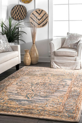 nuLoom Vintage Medallion Ilana Wool Hand Tufted Area Rug